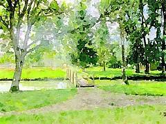Brook at Garden Museum - Version 2