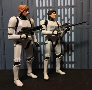 Custom Luke and Han In Stormtrooper disguise.