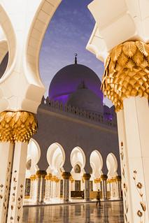 Image of Sheikh Zayed Grand Mosque near Abu Dhabi. muslim uae mosque abudhabi dome column marble unitedarabemirates ae grandmosque sheikhzayedbinsultanalnahyangrandmosque
