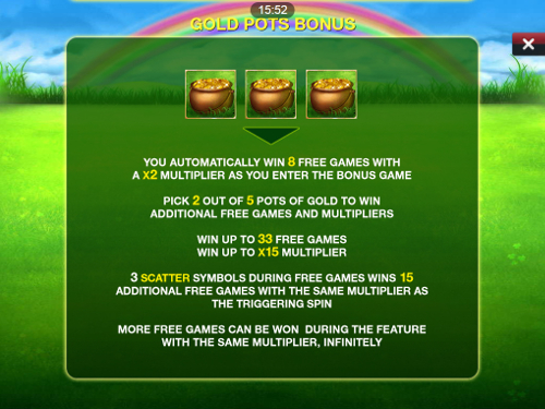 free Irish Luck Mobile free spins feature