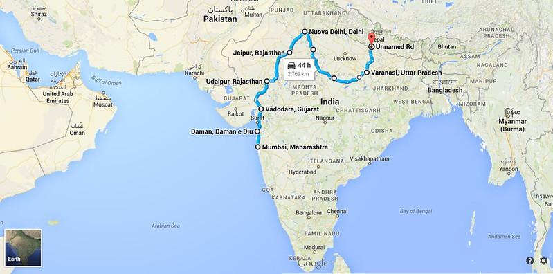 Tragitto_India