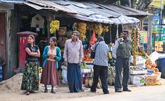 Sellers in street shop sell fresh fruits in Sri La…