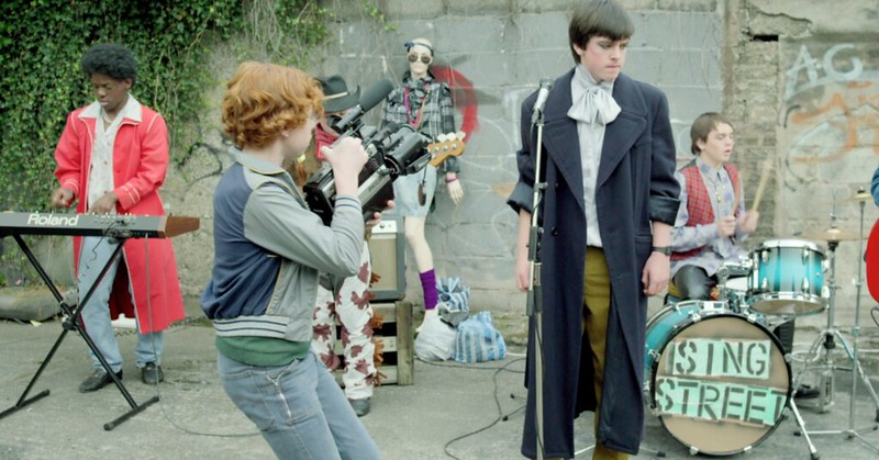 Ferdia Walsh-Peelo and his band tear up SING STREET.