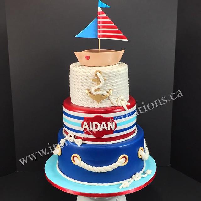 Nautical Themed Cake by Irene's Sweet Creations