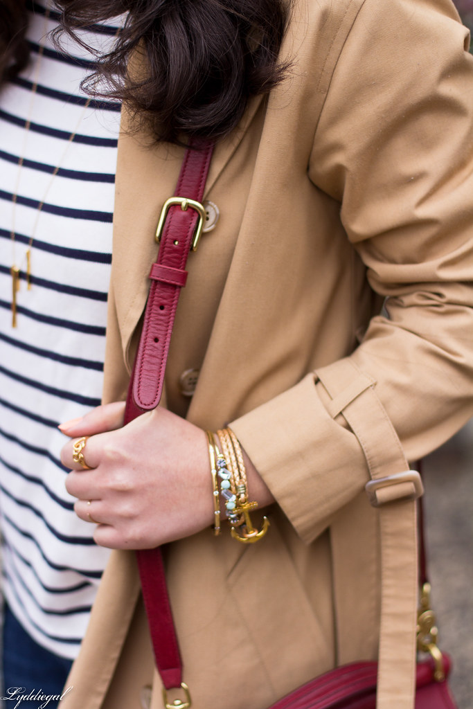 striped shirt, distressed denim, trench, red coach bag-4.jpg