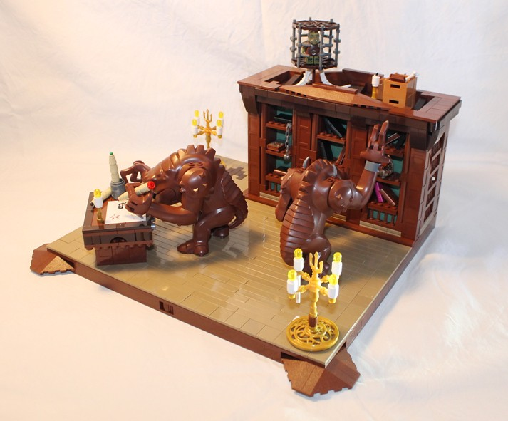 Rancor Library, by mordatre, on Eurobricks