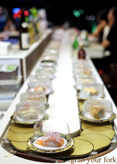 Sushi train at Ashin, Campsie