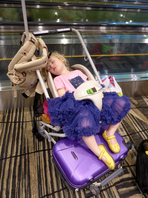 airport stroller sleeping singapore changi airport