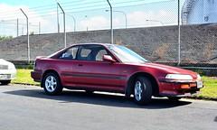 honda cr-x(0.0), automobile(1.0), vehicle(1.0), mid-size car(1.0), honda(1.0), compact car(1.0), sedan(1.0), land vehicle(1.0), coupã©(1.0), sports car(1.0),