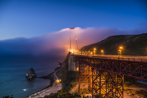Fog Flow Over the Gate