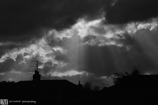 Dark clouds over Morley, Leeds.