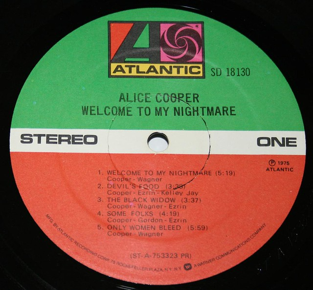 "ALICE COOPER WELCOME TO MY NIGHTMARE 12"" LP"