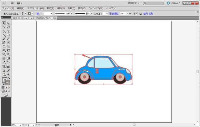 Illustrator から 図形をコピー