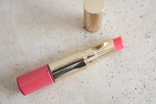 Estee Lauder Lip and Cheek Summer Glow peach glow review and swatches
