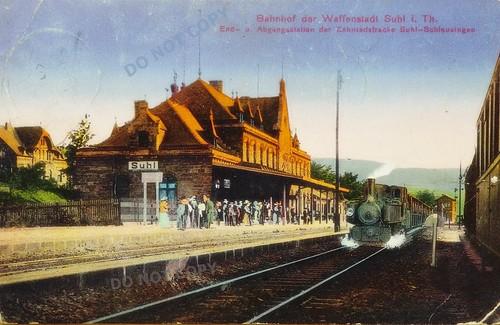 vintage antique postcard bahnhof postkarte antik ansichtskarte suhl