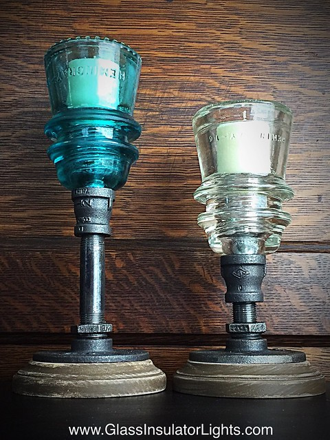 Glass Insulator Candle Holders