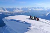 Skitouren-Paradies im Hohen Norden Norwegens. Skitouren auf den Lofoten. Foto: Günther Härter.