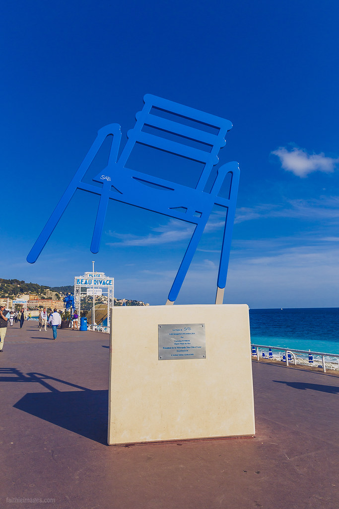 The famous blue chair