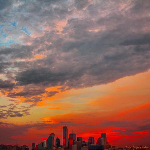 sunset red dallas blood hell downtowndallas yahooweather lakecliffpark josephhaubert