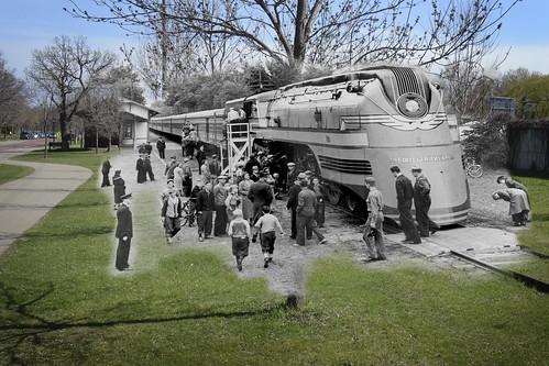 Train at Minnehaha Station 1938