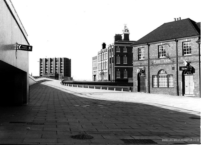 Both the Molineux and the Fox still serving Butlers Ales, all alone now fronting the Underpass in 1974.