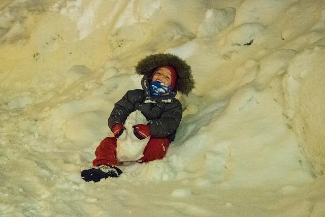 ¡Lucha de bolas de nieve!