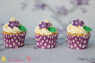 Purple Daisy Cupcakes