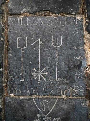 Gravestone Marker in the Old Church in Delft, Holland