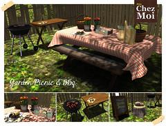 Garden Picnic and BBq CHEZ MOI