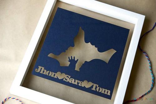 New Baby Papercut from Twenty Fingers