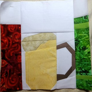 Butter beer block. Pod quilt a long.