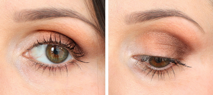 rose gold metallic smokey eye