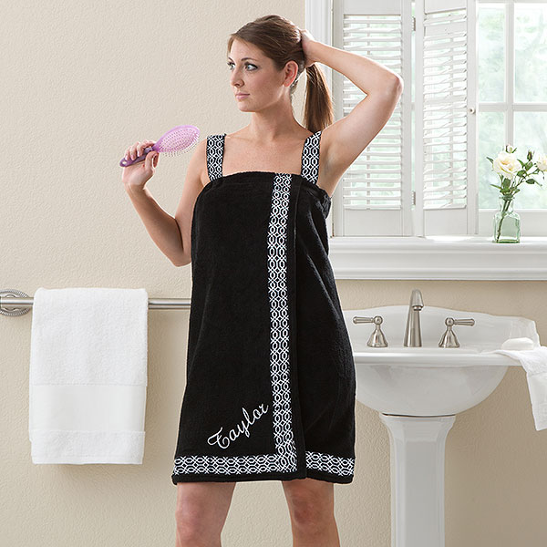 Mother's Day Gift Embroidered Bath Wrap