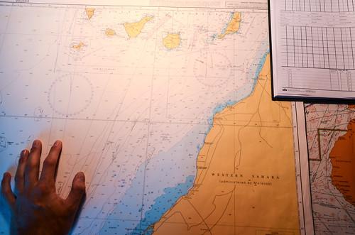 Nautical chart: Western Sahara & Islas Canarias