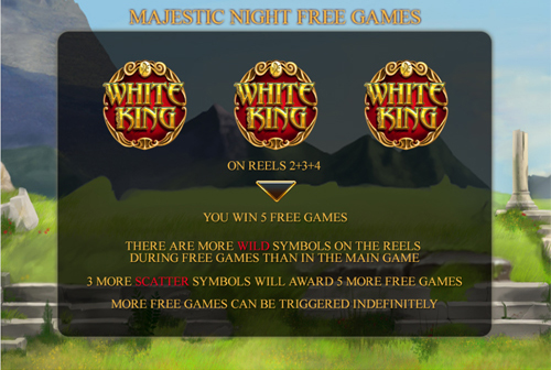 free White King Mobile free spins feature