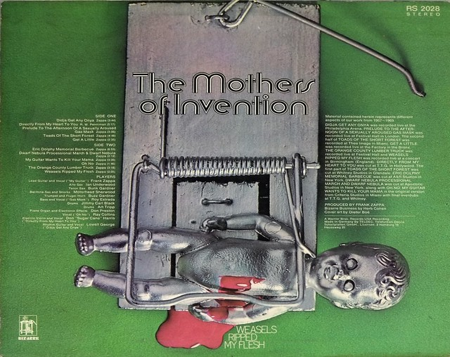 """MOTHERS OF INVENTION WEASELS RIPPED MY FLESH RS 2028 RAT TRAP GER 12"""" LP VINYL"""