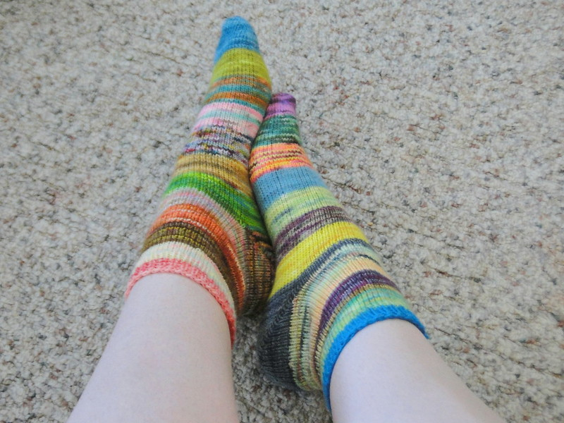 scrappy socks finished!