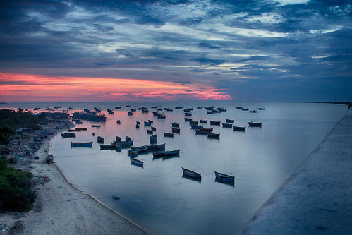 Sunset from Pamban brdige.