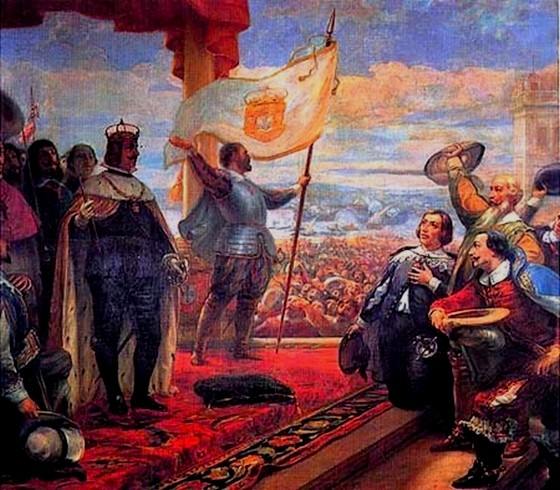 The Acclamation of the King John IV, by Veloso Salgado