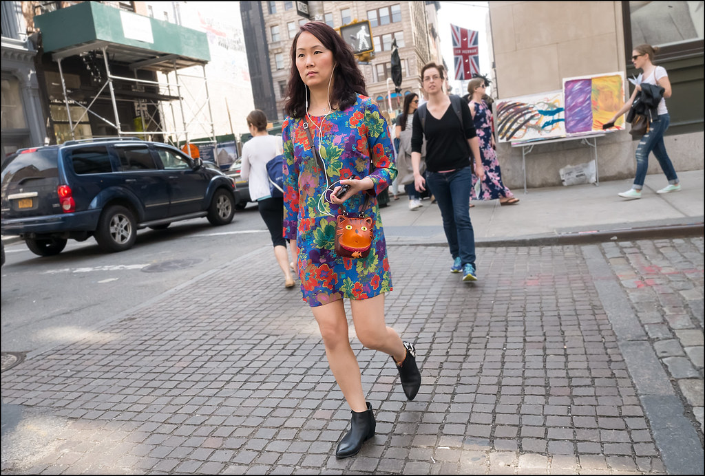 SS5-15 10w florwer print short dress mod pointy ankle boots cat purse