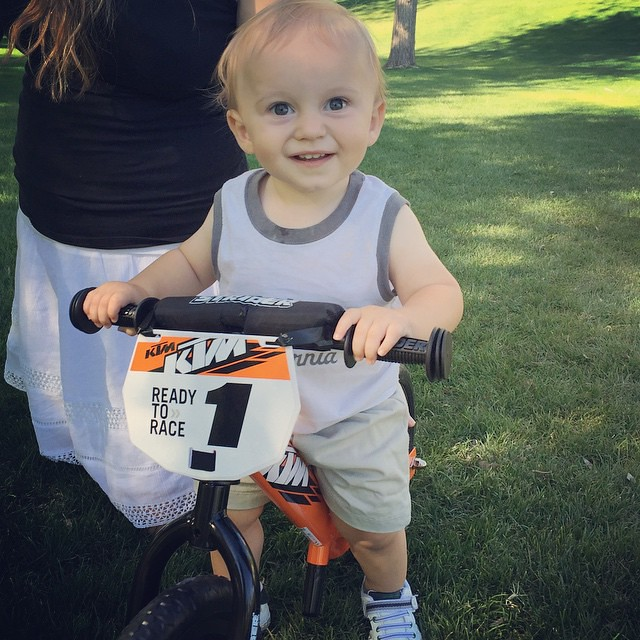 His first motorcycle! #ktm by bartle_man