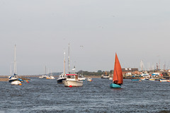Sailing boat from Wells next the Sea harbour