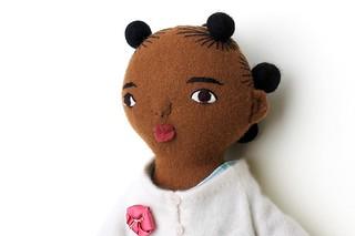 black girl doll face