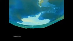 Ozone hole formation over south pole, 9/1 to 12/4, 2014