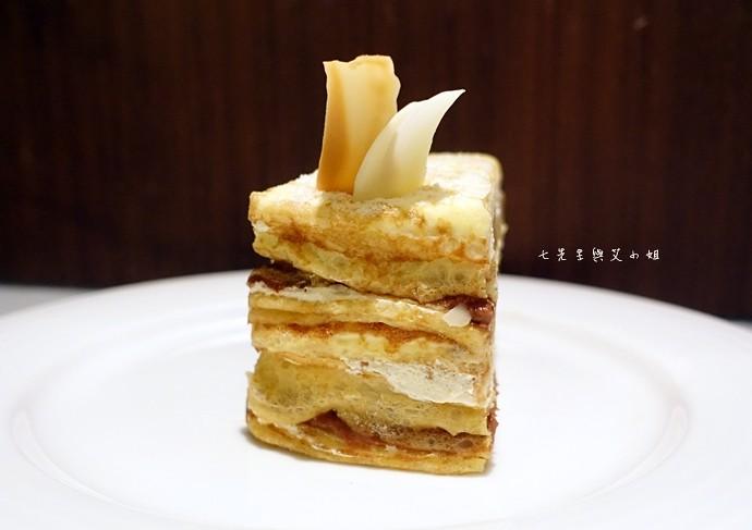 25 台南 深藍咖啡館 千層蛋糕