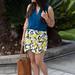 leomon print skort, teal blouse, jeweled sandals-2.jpg
