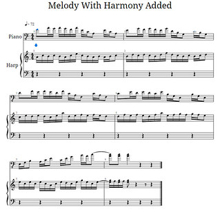 Melody with added Harmony