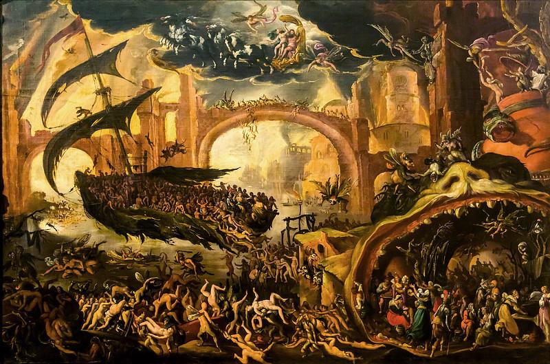 Jacob Isaacsz van Swanenburgh - Sybil and Aeneas in the Underworld, ca 1600