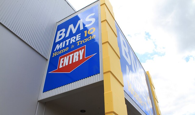 BMS Mitre 10 in Toowoomba (QLD) is one of the business involved in a row with Bunnings