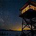 Fire lookout and Galactic Blaze by D. Inscho